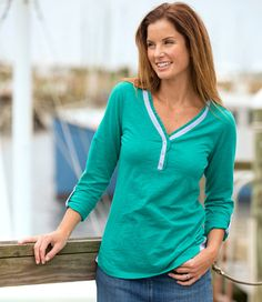 Women's Newcastle Henley: Tees and Tops   Free Shipping at L.L.Bean