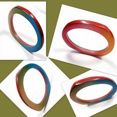 polymer clay Bangle Bracelet by artist Sherri Kellberg