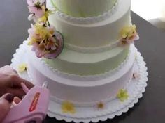 How to make fake cake for a bridal shower - YouTube