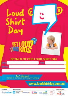 Loud Shirt Day Host Kit Date Poster  www.loudshirtday.com.au