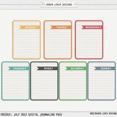 Digital Scrapbooking Journaling Freebie