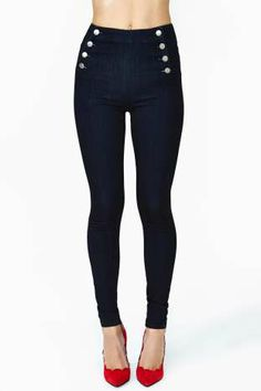 Sail Along Skinny Jeans $68.00 #Factory