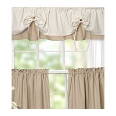 Versa-Tie Curtain Valance with Adjustable Drawstrings from…