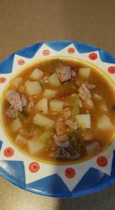 Authentic New Mexico Green Chile Stew i first had this when i went to albuquerque to visit family 15 years ago. after several attempts to recreate And falling short ive finally perfected it.at least in my mind but i havent had the re Mexican Dishes, Mexican Food Recipes, Dinner Recipes, Mexican Stew, Real Mexican Food, Pork Recipes, Cooking Recipes, Cooking Chili, Recipies