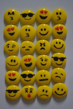 Smiling Face with Sunglasses Emoji Fused Glass Magnet