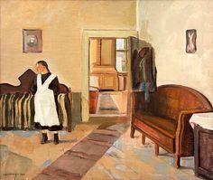 bofransson: EERO NELIMARKKA1921.Interior Interior, Modern, Painting, Beautiful, Art, Figurative, Art Background, Trendy Tree, Indoor