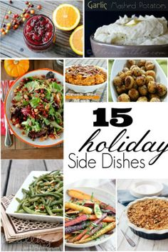 Holiday Side Dishes #thanksgiving #holiday #recipes #sidedishes