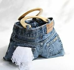 ... cheap!: Scrappy Upcycled Apron ...or... Mean Green Blue Jeans! (pt 2
