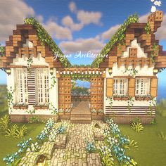 Minecraft Building Blueprints, Minecraft House Plans, Minecraft Farm, Minecraft Cottage, Cute Minecraft Houses, Minecraft House Tutorials, Minecraft Castle, Minecraft House Designs, Amazing Minecraft