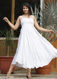Dresses Zamaisha White Rayon A-Line Bobbin Maxi Dress for Women Fabric: Rayon Sleeve Length: Sleeveless Pattern: Dyed/ Washed Multipack: 1 Sizes: XL (Bust Size: 42 in Length Size: 50 in)  L (Bust Size: 40 in Length Size: 50 in)  M (Bust Size: 38 in Length Size: 50 in)  XXL (Bust Size: 44 in Length Size: 50 in) Country of Origin: India Sizes Available: S, M, L, XL, XXL   Catalog Rating: ★4.2 (332)  Catalog Name: Trendy Partywear Women Dresses CatalogID_1901624 C79-SC1025 Code: 494-10437285-5721