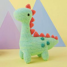 This amigurumi dinosaur is just so cute! Download the pattern today for free!