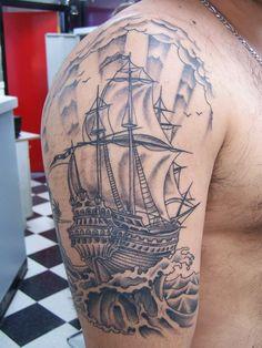 Ship Tattoo - 40 Boat Tattoo Designs  <3 <3