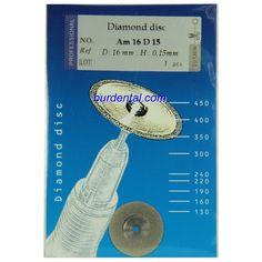 16mm Full Double Coating Extra Fine Grit HP Shank Diamond disc (Am16D15)