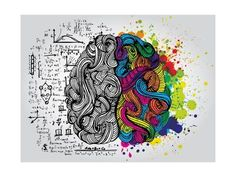 Art Print: Creative Concept of the Human Brain, Vector Illustration by Lisa Alisa : 24x18in