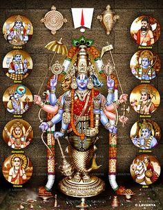 Das Avatars of Shri Vishnu. Lord Murugan Wallpapers, Lord Krishna Wallpapers, Lord Ganesha Paintings, Lord Shiva Painting, Ganesha Drawing, Lakshmi Images, Durga Images, Lord Balaji, Lord Shiva Hd Wallpaper