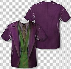 New The Joker Heath Ledger Costume All Over Print Sublimation Youth T-shirt Top #Trevco #Everyday