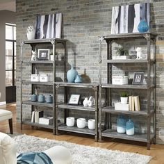 Home Styles Urban Style 3-Piece Storage Unit in Aged Metal
