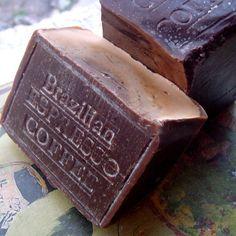 Amazon.com : Coffee Soap -Brazilian Espresso Coffee Scrub Soap with Coffee Butter and a Hint of Vanilla 13 OZ Bar : Bath Soaps : Beauty