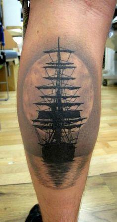 ship tattoo more tattoo ideas ship tattoos moon tattoo nautical tattoo . Tattoos 3d, Mädchen Tattoo, Sunset Tattoos, Unique Tattoos, Beautiful Tattoos, Body Art Tattoos, Tattoo Flash, Tattoo Ship, Arrow Tattoos