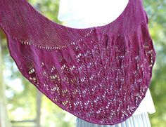 Crescent shaped shawl, complete with shoulder shaping.