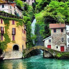 Nesso, junto al lago Como en el norte de Italia