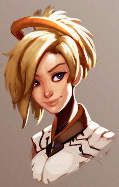 overwatch by on DeviantArt Overwatch Video Game, Overwatch Fan Art, Overwatch Mercy, Overwatch Drawings, Overwatch Comic, Chun Li, Video Game Art, Video Games, Divas