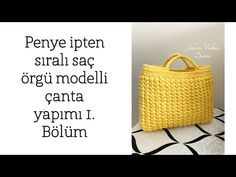 Today we have a special Yellow Bag Tutorial for you. This tutorial is very popular and the result is super pretty. Crochet Bracelet, Bead Crochet, Crochet Handbags, Crochet Bags, Yarn Bag, Crochet Stitches Patterns, Crochet Videos, Diy Bags, Learn To Crochet
