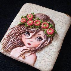 Девушка-Весна, второй пряник для МК, открытка размером 13×15см #пряники #пряникисанктпетербург #пряникиназаказ #имбирныепряники #ручнаяработа #пряничнаяфея #девушкавесна #печенье #деньрождения #подарок