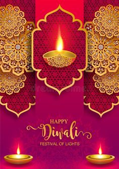 Illustration about Diwali, Deepavali or Dipavali the festival of lights india with gold diya patterned and crystals on paper color Background. Illustration of chaturthi, ghee, diwali - 153058362 Diwali Greetings Images, Happy Diwali Pictures, Happy Diwali Wishes Images, Diwali Wishes Quotes, Happy Diwali Wallpapers, Diwali Greeting Cards, Happy Diwali Shayari, Diwali Deepavali, Happy Diwali Animation