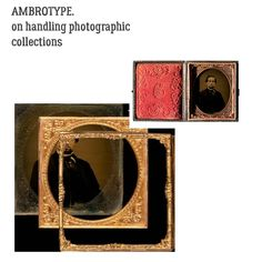 A M B R O T Y P E. diving deep in archives and collections care.  Usually mistaken for:Daguerreotype Tintype  Process Family(s):Photographic Silver Collodion Binder Glass Support Direct Positive  Description  The ambrotype #process is based on the light sensitivity of silver halides suspended in a collodion binder on a glass support.  Although #ambrotypes are technically negatives they are considered direct positives because they are one-of-a-kind positive images made directly in the camera…