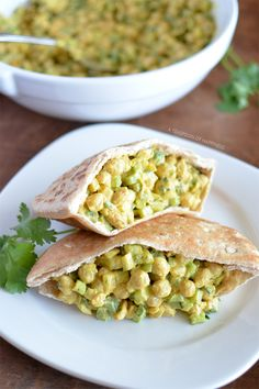 Curry Chickpea Salad - A Teaspoon of Happiness | I would replace the mayo with mashed avacado