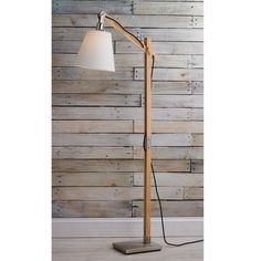 Modern Rustic Wood Arc Floor Lamp - Shades of Light Natural Floor Lamps, Rustic Floor Lamps, Diy Floor Lamp, Wooden Floor Lamps, Rustic Lamp Shades, Floor Lamp Shades, Ceiling Lamp Shades, Arc Floor Lamps, Rustic Lamps