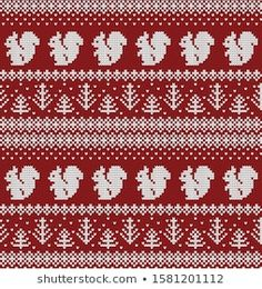 Knitted Christmas New Year Vector Seamless stockvector (rechtenvrij) 1581201112 Knitting Charts, Hand Knitting, Knitting Patterns, Christmas And New Year, Christmas Home, Christmas Knitting, Christmas Sweaters, Sewing Hacks, Mittens