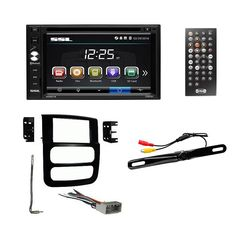 asc audio car stereo radio wire harness and antenna adapter to 2002 05 dodge ram double din 6 2 touch screen monitor dash