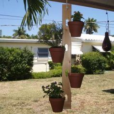 This spring, show off your woodworking skills and gardening abilities at the same time. Display your plants in this simple yet impressive clay pot hanger. Each hanger can hold four clay pots securely. Best of all, this is a very simple woodworking project that nearly anyone can build! Download the free plans and build your clay pot hanger today.: Download the Free Plans