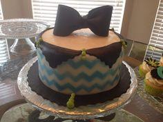 Sweet 16 chevron cake | Courtney's Confections |