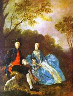 Thomas Gainsborough, with His Wife and Elder Daughter, Mary (1751-52)