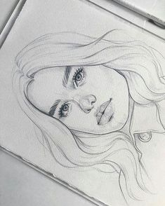 62 Ideas Fashion Drawing Face Pencil For 2019 Fashion Show - Zeichnung Girl Drawing Sketches, Cool Art Drawings, Pencil Art Drawings, Realistic Drawings, Cartoon Drawings, Drawing Faces, Easy Drawings, Girl Sketch, Drawing Art