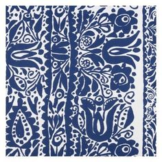 Marimekko® Sarafan Cobalt Shower Curtain by Crate and Barrel $50