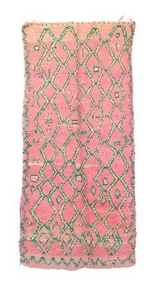 """BOUJAD Vintage Moroccan Rug, 3'5"""" x 7'7"""" feet - Hawazine Rugs"""