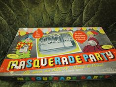 Vintage Masquerade Party, 1950s Board Game. Retro Rad! Great Used Vintage Condition.  Includes Speacial Bonus, Mail In, Add On Game Pack! on Etsy, $62.00