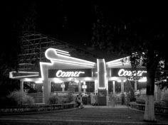 Forest Park Highlands Amusement Park, Comet Roller-coaster, ca. 1950's.   #STLPRS  Photo; Missouri State Archives