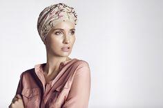 Turban fra Helena Christensens samarbejde med Christine Headwear og Look Good Feel Better