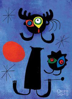joan miro paintings and meanings | Joan Miro Famous Paintings http://www.behance.net/gallery/Smeshariki ...
