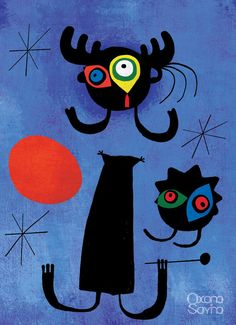 joan miro paintings and meanings | Joan Miro Famous Paintings http://www.behance.net/gallery/Smeshariki ...