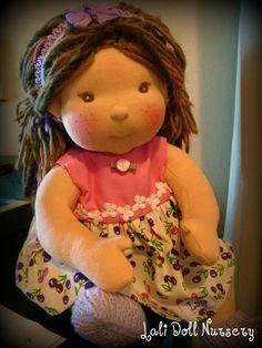 PDF Pattern Doll Dress for waldorf and cloth dolls. $6.00, via Etsy.