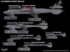 Klingon Fleet Scale Side by ~Adam-Turner on deviantART