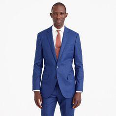 Ludlow suit jacket in heathered Italian wool flannel. Traje Azul EléctricoUñas  AzulesTrajesBodas De Hombres ... 96d1cacc97a
