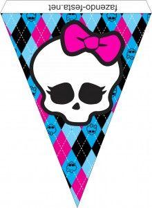 Kit festa Monster High para imprimir - Grátis