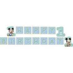 Mickey's 1st Birthday Banner